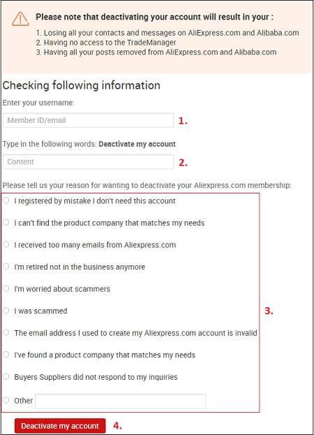 Как удалить аккаунт с Алиэкспресс в мобильном приложении