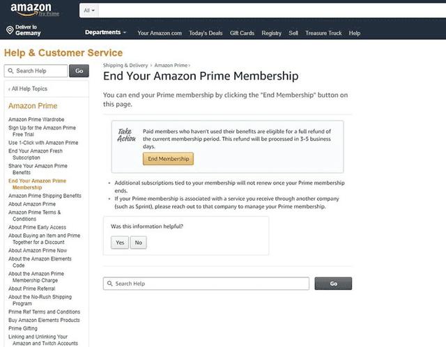 Как отменить подписку amazon prime и вернуть деньги