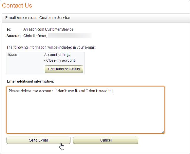Как удалить аккаунт на Амазоне