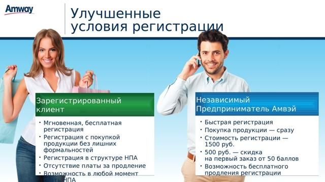 Как зарегистрироваться в Амвей для себя (как клиент)