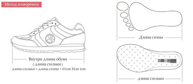 Как выбрать размер обуви на Алиэкспресс: мужской, женской, детской