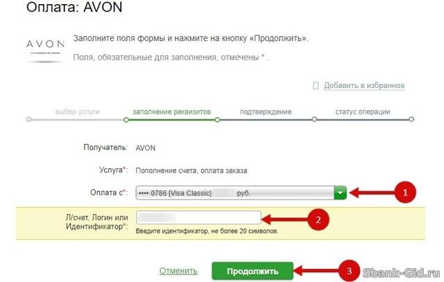 Как оплатить Эйвон через Сбербанк Онлайн: с телефона, с компьютера