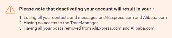 Как удалить сообщение на Алиэкспресс