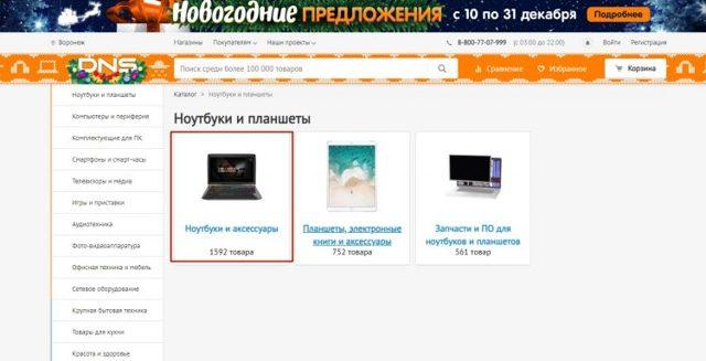 Как заказать товар в ДНС через интернет